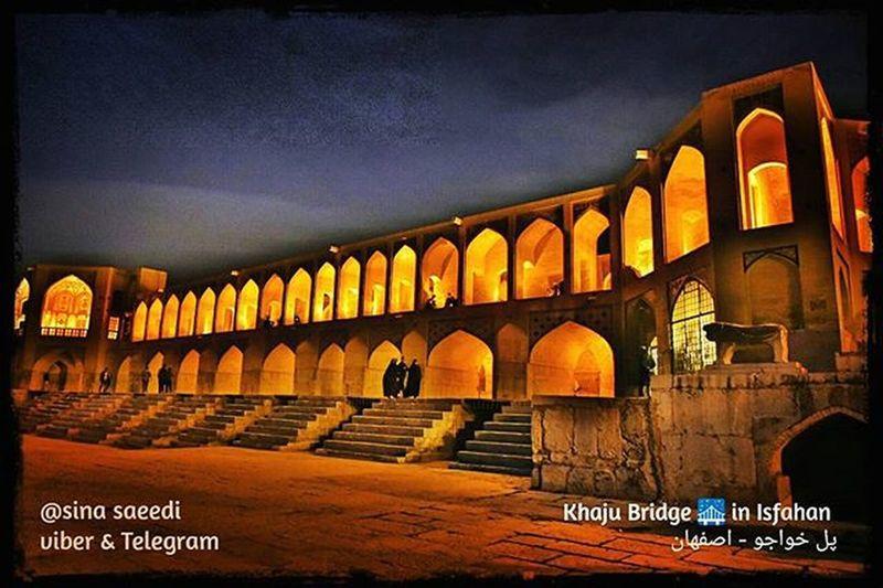 پل خواجو شهر اصفهان Khaju Bridge 🌉 in Isfahan With special thanks to Dear Mr Sehat & miss pour saeed Isfahan Khaju_bridge Iran