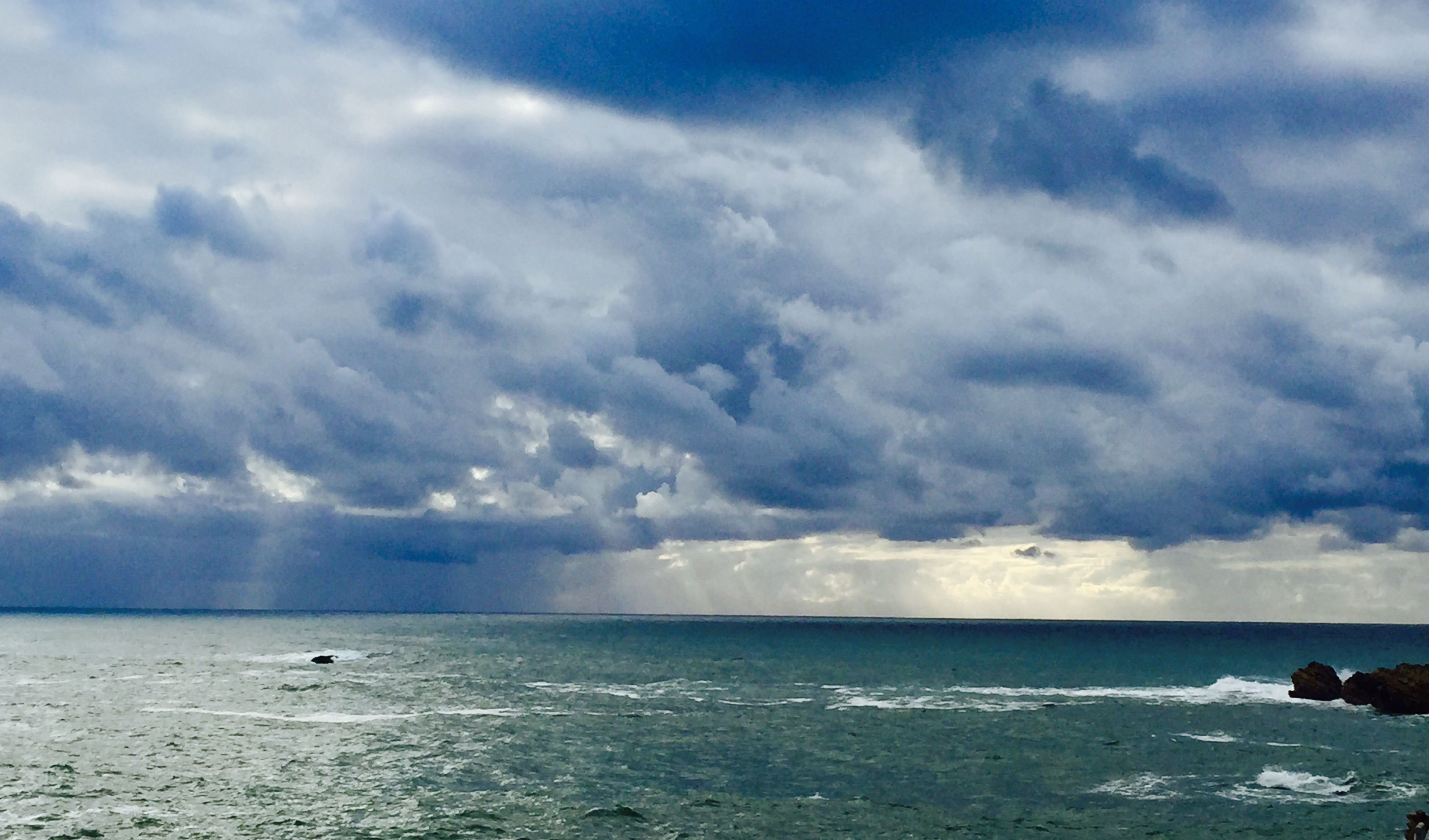sea, cloud - sky, sky, water, nature, scenics, beauty in nature, horizon over water, outdoors, beach, day, no people