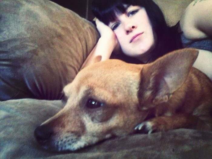 Me and my baby nugglin on the couch :)