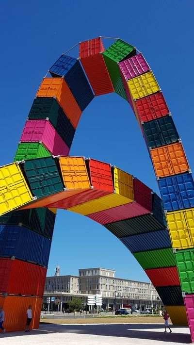 Multi Colored Building Exterior Outdoors Architecture Le Havre 500anslehavre Container Architecture Modern Clear Sky