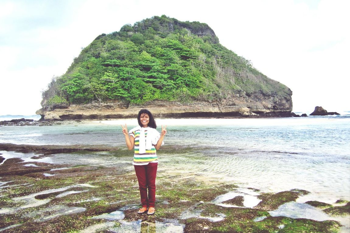 Goa Cina Beach, Malang, Indonesia Finally Holiday! BEACH!  Enjoy ✌