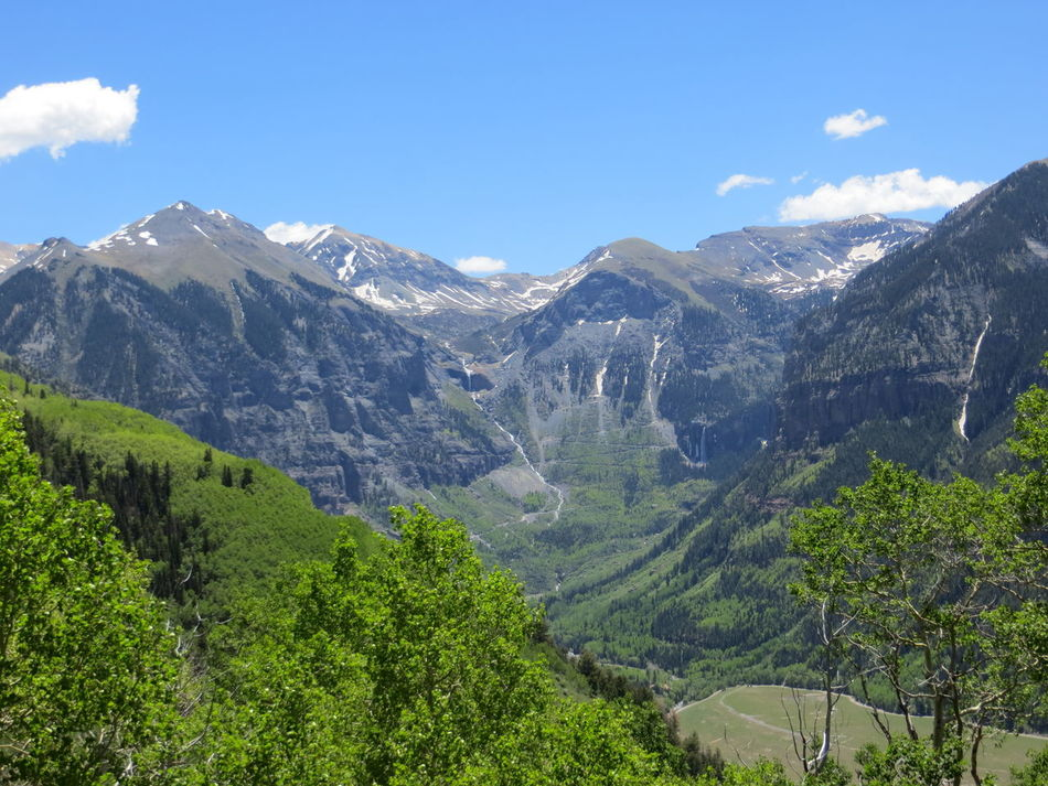 Mountains of Telluride Beauty In Nature Colorado Day Forest Landscape Mountain Mountain Range Nature No People Outdoors Range Scenery Scenics Sky Snow Telluride Tranquility Tree Vegetation