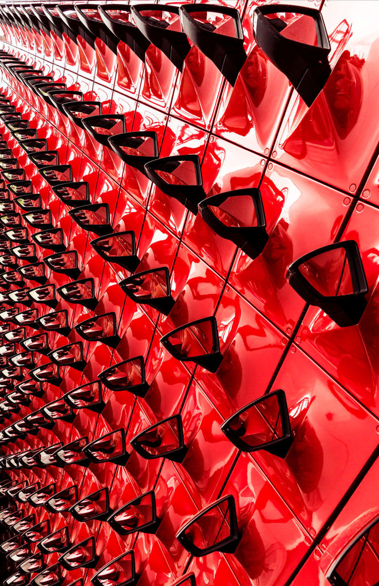 Auto Industry Autostadt Editorial  Exibition Full Frame Germany Infinity Mirrors Red Seat Pavillon Side Mirror Tourism VW