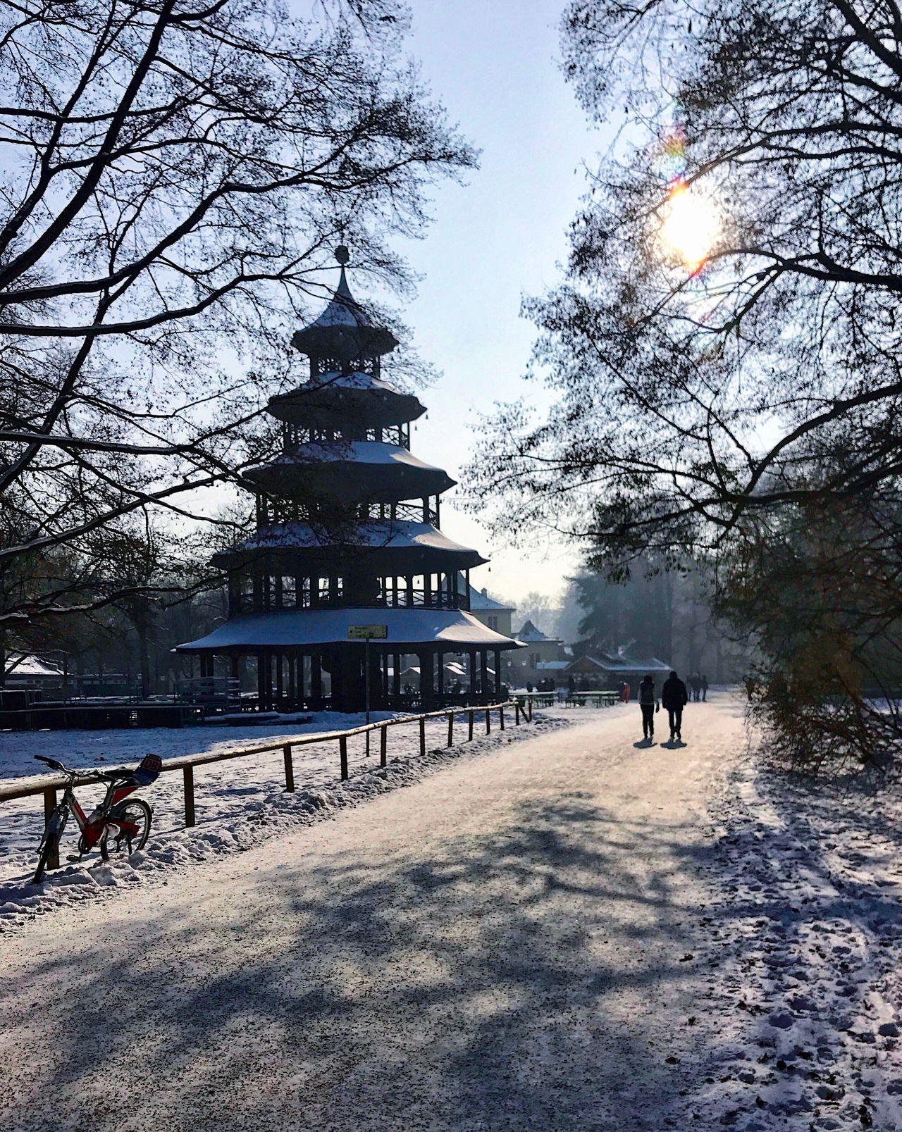 Englisch Garten Winter Snow Garden Park Munich Bavaria Germany