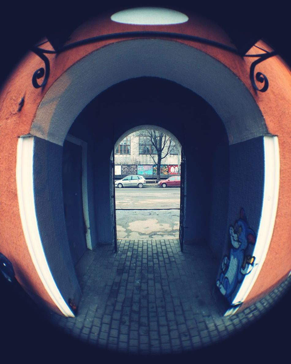 Fisheye Фишай Archway Graffiti арка Mobilephotography Urban Geometry Street улица Meizu