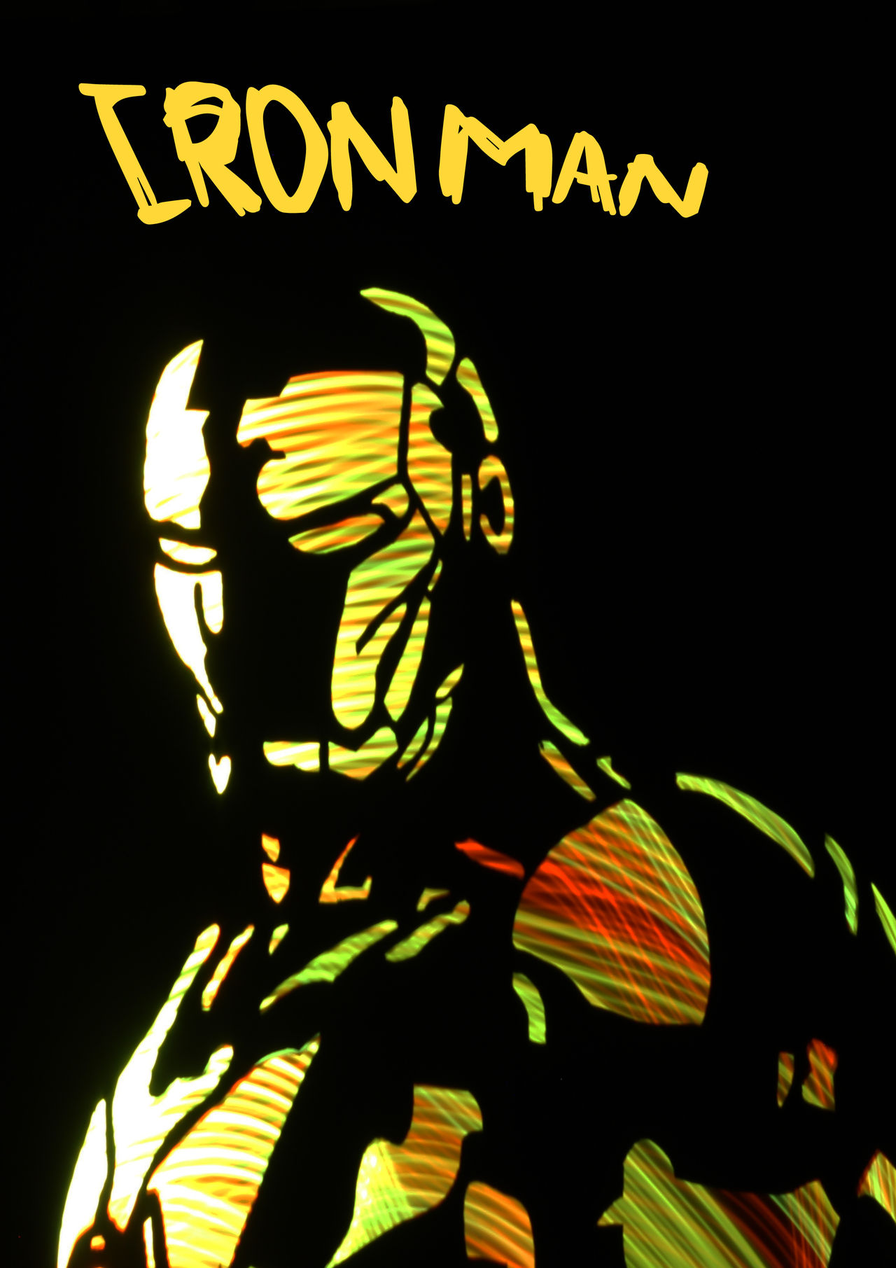 Light Ironman Filtre Colors Stencil Stencil Art Colors Lightpaintingphotography Light Painting