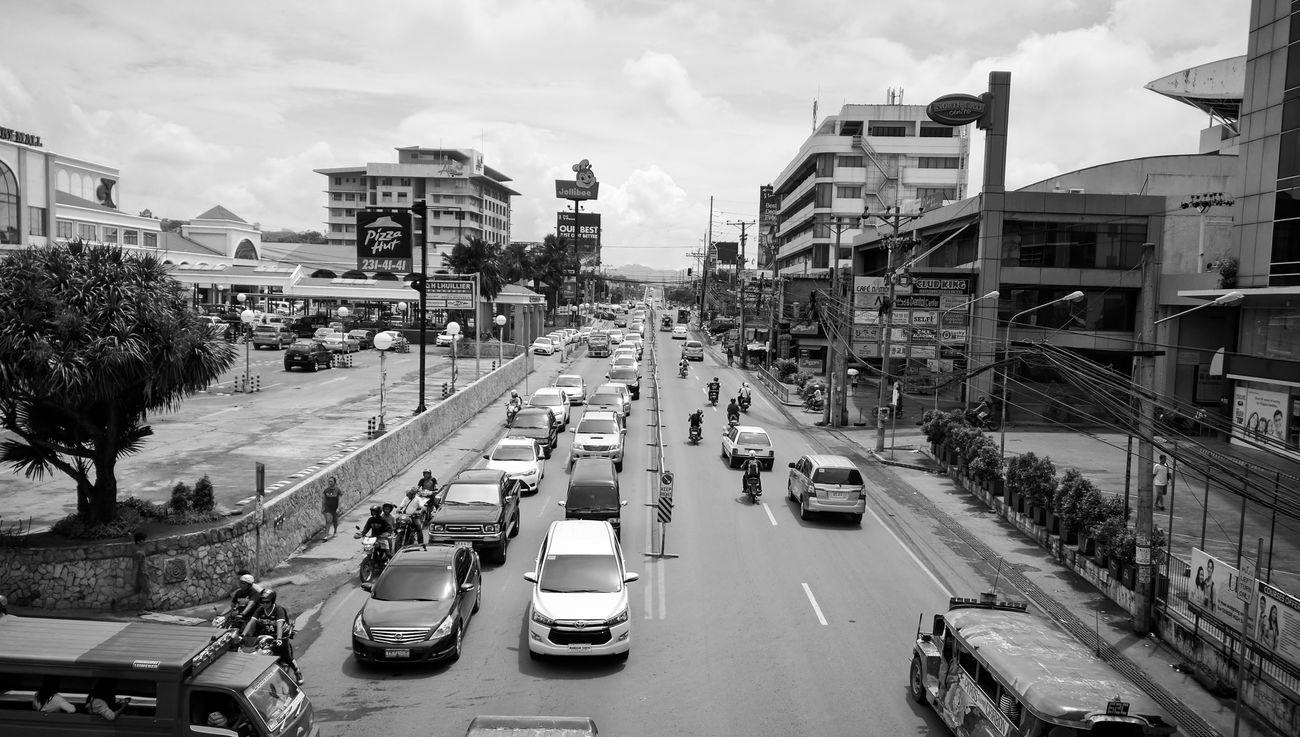 Sunday street in Cebu Car City Traffic Street City Street Road Sky Day Relaxing View Taking Photos Enjoying Life Cebu Philippines Sweet Smell
