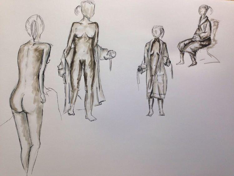 Aktzeichnen, Bewegung Drawing Art ArtWork
