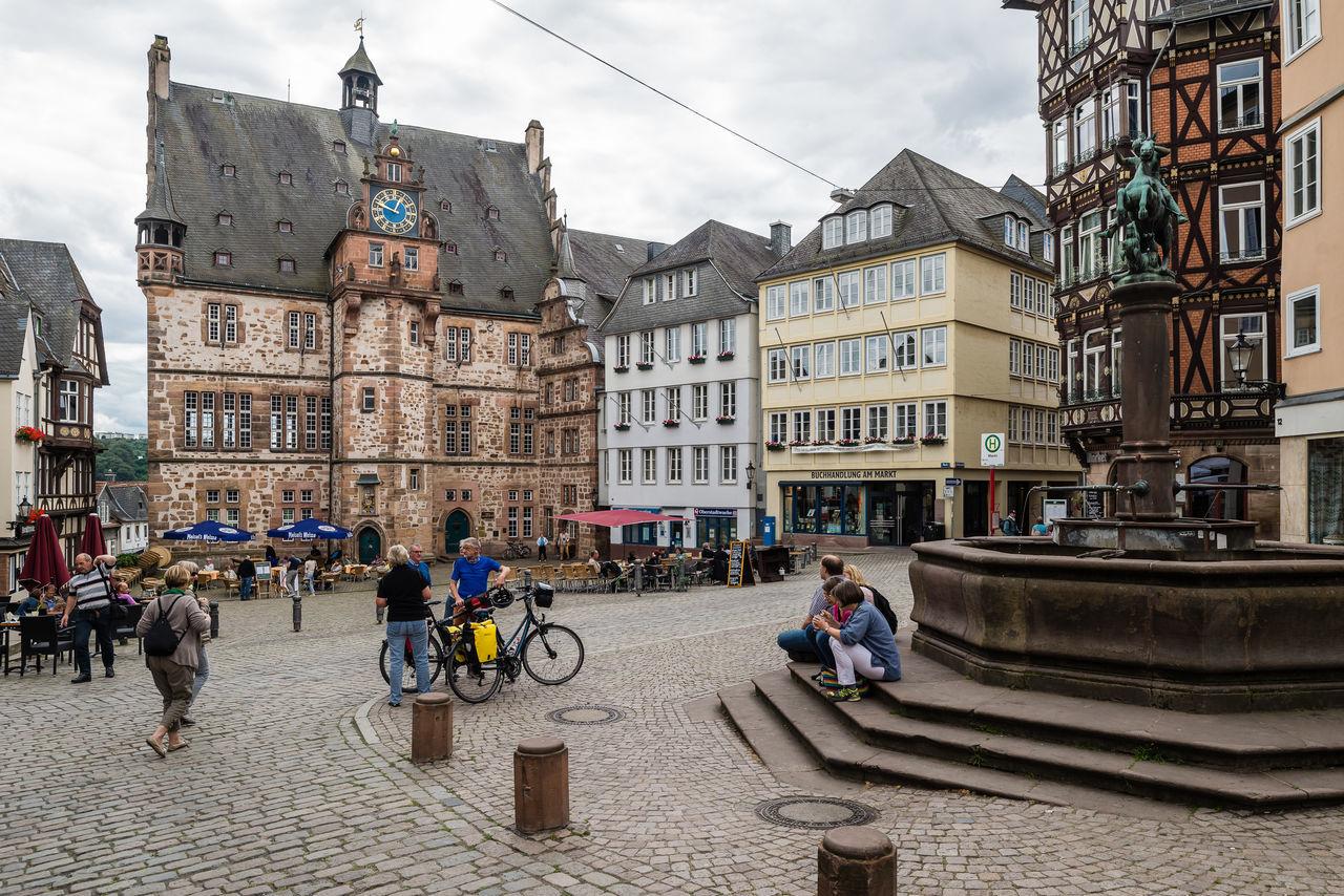Architecture Building Exterior City Life Culture Façade Famous Place Germany GERMANY🇩🇪DEUTSCHERLAND@ Historic Marburg An Der Lahn Outdoors Pastel Power Perspective Street Tourism