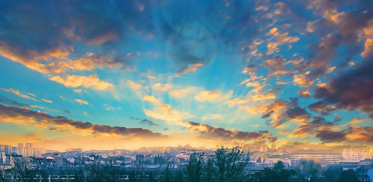 La sierra del Aramo al fondo Sunset Oviedo Sky Cloud - Sky Outdoors Urban Skyline Landscape EyeEm Best Shots Asturias , Spain EyeEm Gallery Eyeemphotography Asturias Desdemiventana