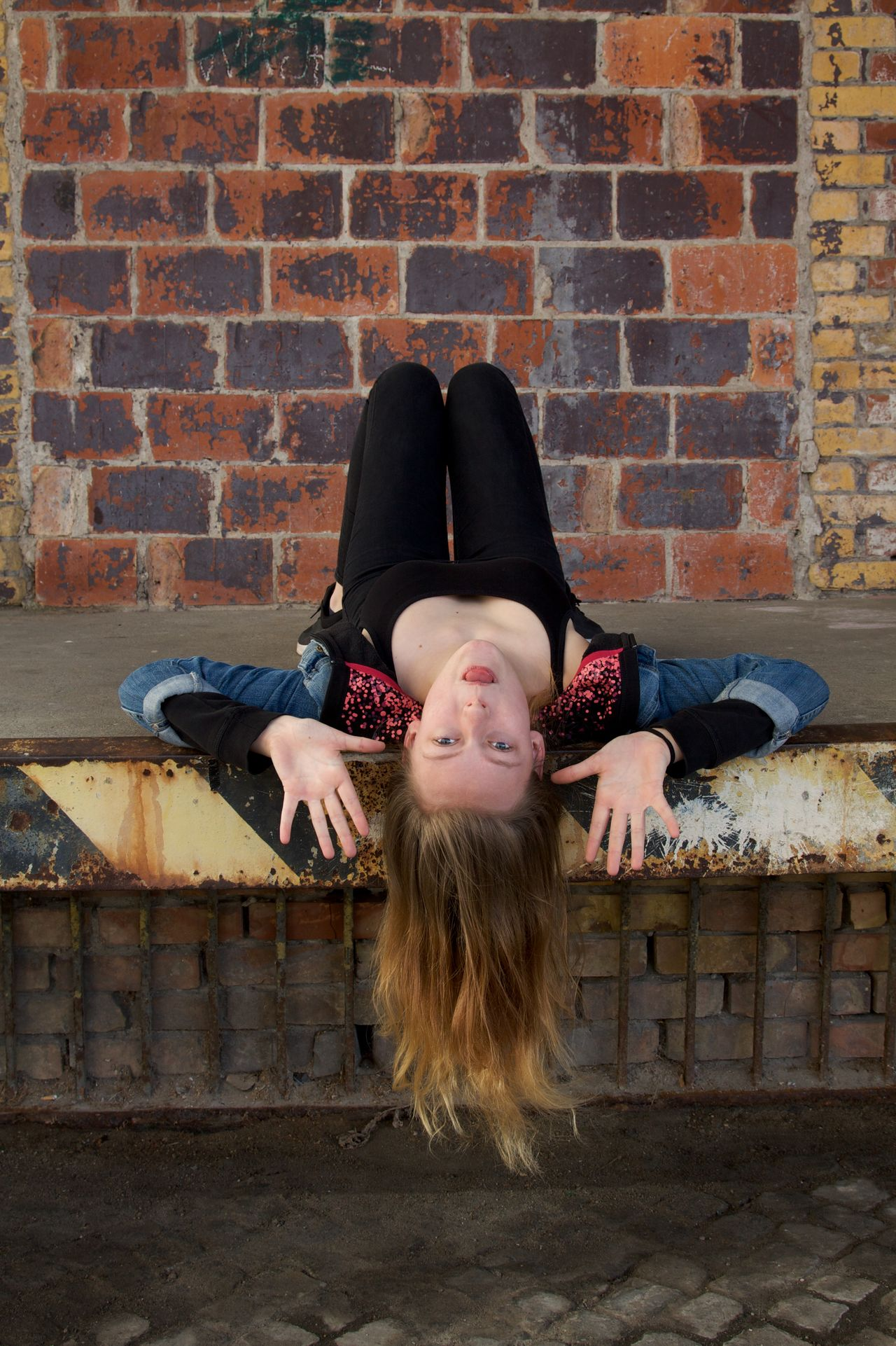 my funny cookie Attitude Brick Wall Day Funny Faces Girl Power Having Fun Having Fun :) One Person Outdoors People Portrait Portrait Photography Teenage Girls Teenager Urban Lifestyle Young Adult Youth Youth Of Today