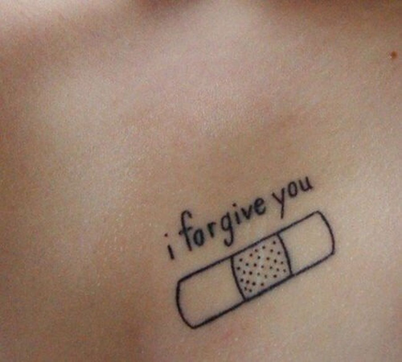 I Forgive You Tattoo Beautiful Ink Bodyart Sick And Cute  Black Love It RAD