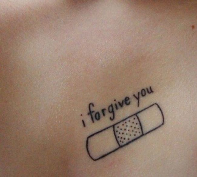 I Forgive You Tattoo Beautiful Ink Bodyart Sick And Cute  Black Love It RAD