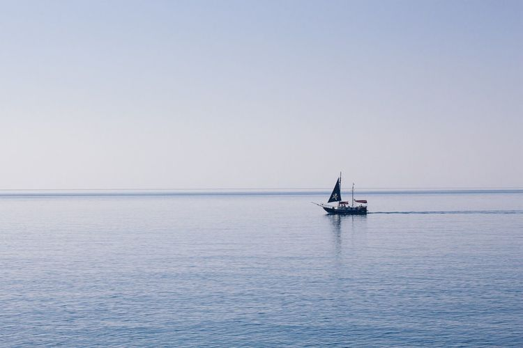 Pirate Pirateship  Landscapes With WhiteWall Sea Sea And Sky Seascape Lonely Loneliness Calmness Calm Nature Minimalism