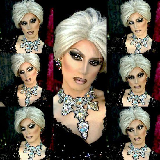 Dragqueen  Diva Rupaulsdragrace Hello World Selfie Blond Makeup Swarovski Divacrystal Popular Photo www.crystalshow.com.ua