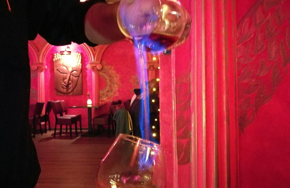 Red Indoors  Illuminated Party - Social Event Archival Nightlife Nightclub Night No People In A Restaurant Set On Fire Flame Flames In A Resturant Shot Glass Brandy Millennial Pink Art Is Everywhere Wine Not