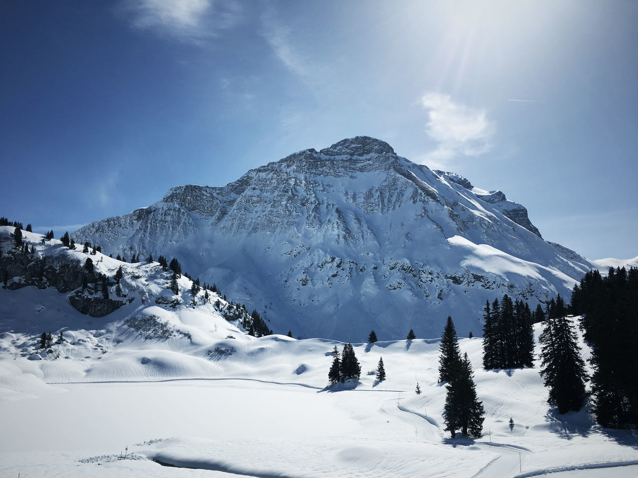 Beauty In Nature Mountain Range Ski Holiday Snow Snowcapped Mountain Travel Destinations Vacations Warth Winter