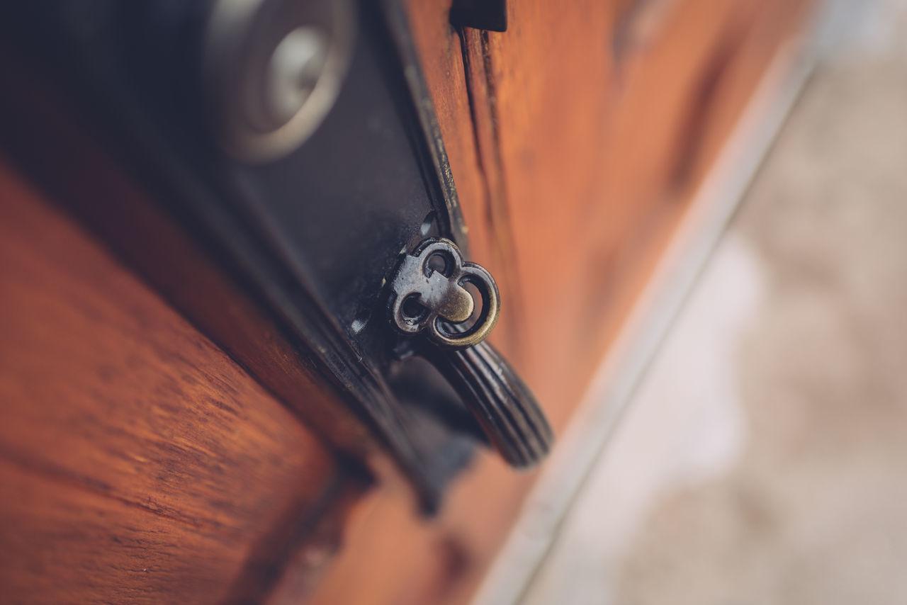 Church Close-up Day Door Handle Lock Looking Down No People Selective Focus Wooden
