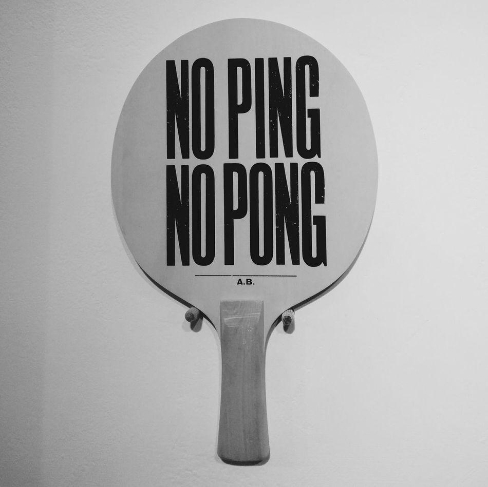 No ping, no pong