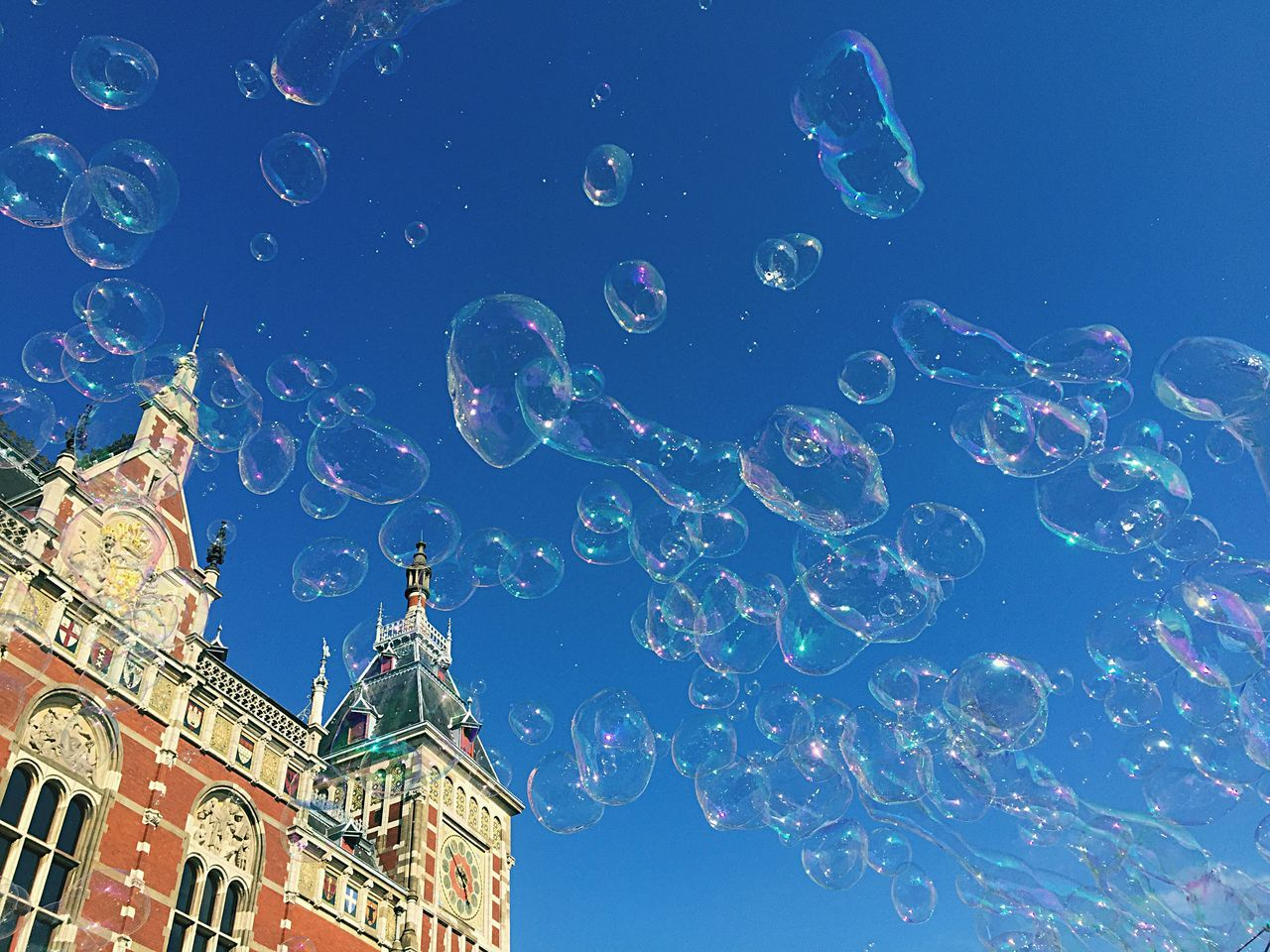 Beautiful stock photos of amsterdam, Amsterdam, Amsterdam Centraal Railway Station, Architecture, Blue