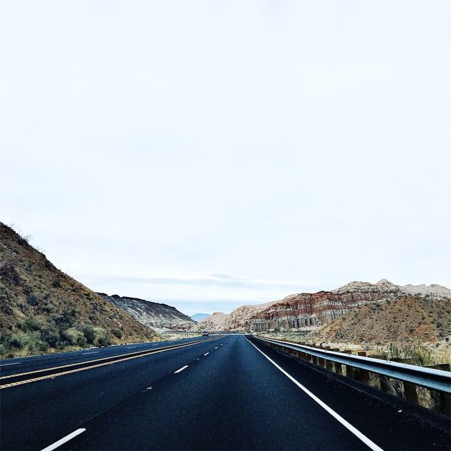 Open Road White Sky Fresh 3 Filter Driving Around Check This Out Hello World Relaxing Enjoying Life Taking Photos On The Road Hanging Out Lonely Car Highway