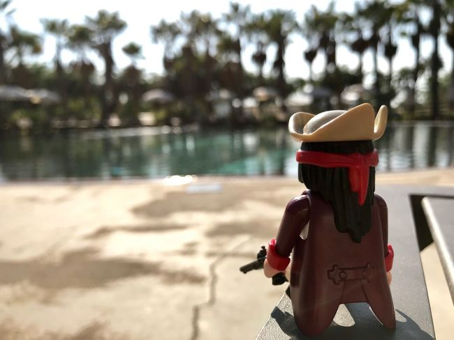 Focus On Foreground Day Sunlight Outdoors Beach Shadow Sand Water Nature No People Tree Close-up Sky Playmobil Palm Trees