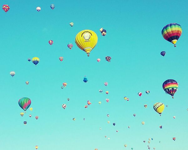 Balloon Fiesta 2015 Blue Sky Deceptively Simple Hot Air Balloons Beautiful Day Albuquerque International Balloon Fiesta Newmexico The Places I've Been Today Belongs To Me Color Of Life