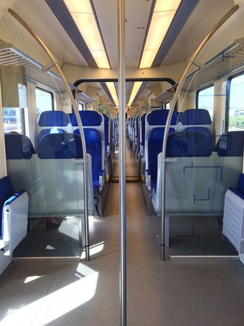 My Commute Empty Train Netherlands Railway Journey Traveling Transportation Infrastructure Connection Dayly Trip Intercity Intercity Train Intercityexpress