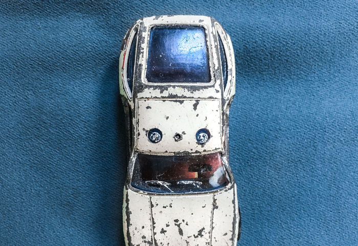 The old Car II Blue Car Close-up Damaged Dirty Emergency Light Geometric Shapes Metal No People Old Car Police Toy Car The Photojournalist - 2017 EyeEm Awards