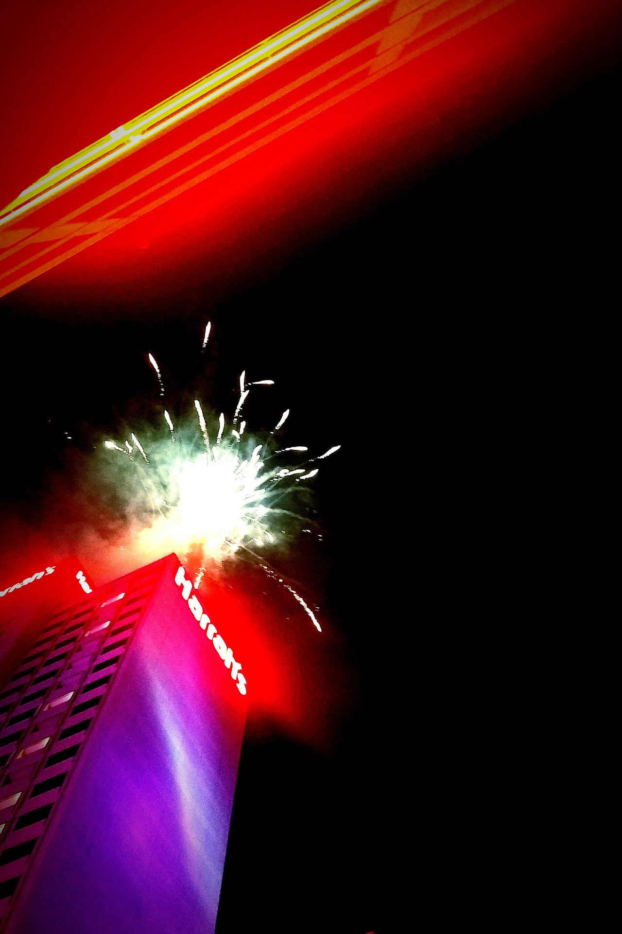 NYE Fireworks Illuminated Exploding Firework Display Celebration Reno, NV Sky City Outdoors Winter New Year Eve's Fireworks