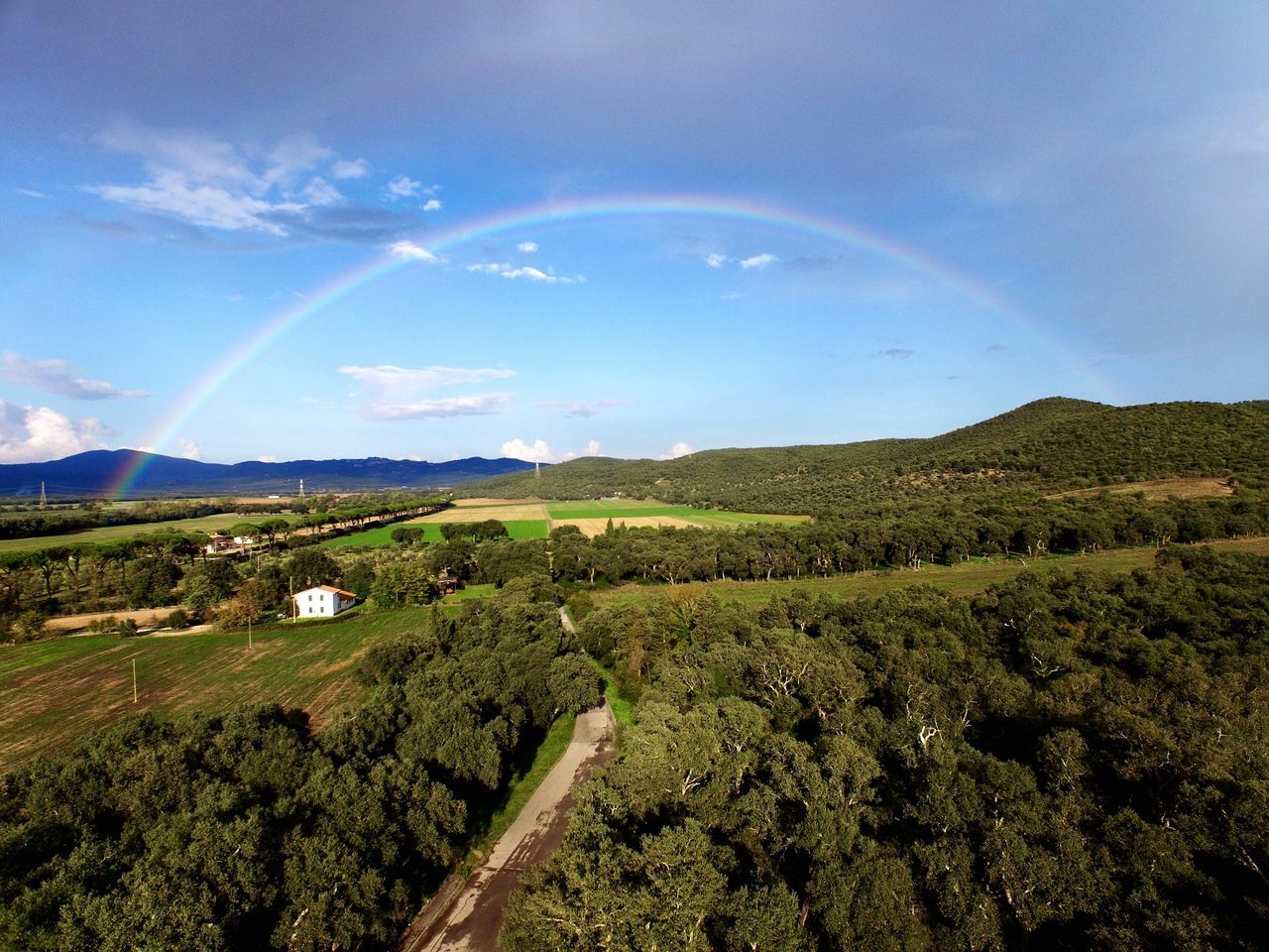 DJI Phantom 3 Professional Drone  Dronephotography Dji DJI Phantom 3 Pro Aerial Shot Aerial Photography Nature Nature_collection Nature Photography Nicola Nelli Sticciano Tuscany Maremma Toscana Bestoftheday Rainbow