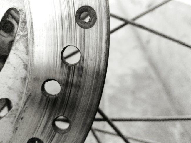 Gear Motorcycle Wheel Metal Bicycle Geometric Shape Selective Focus