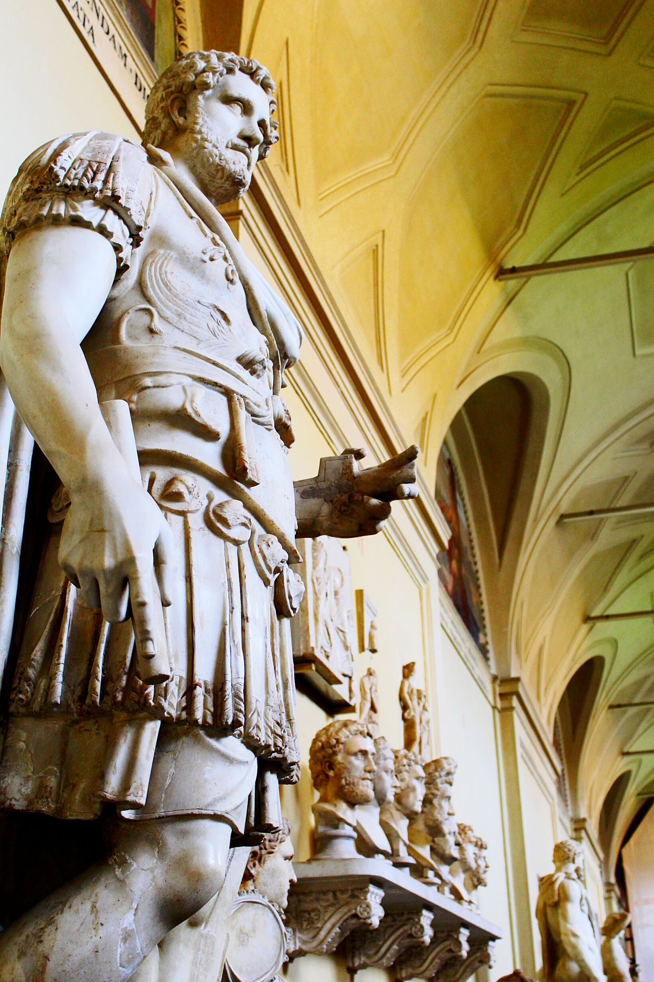 Human Representation Architectural Column Sculpture Indoors  Architecture Low Angle View Statue City VaticanCity Vaticano VaticanMuseum Emperador Adriano EmperadorAdriano