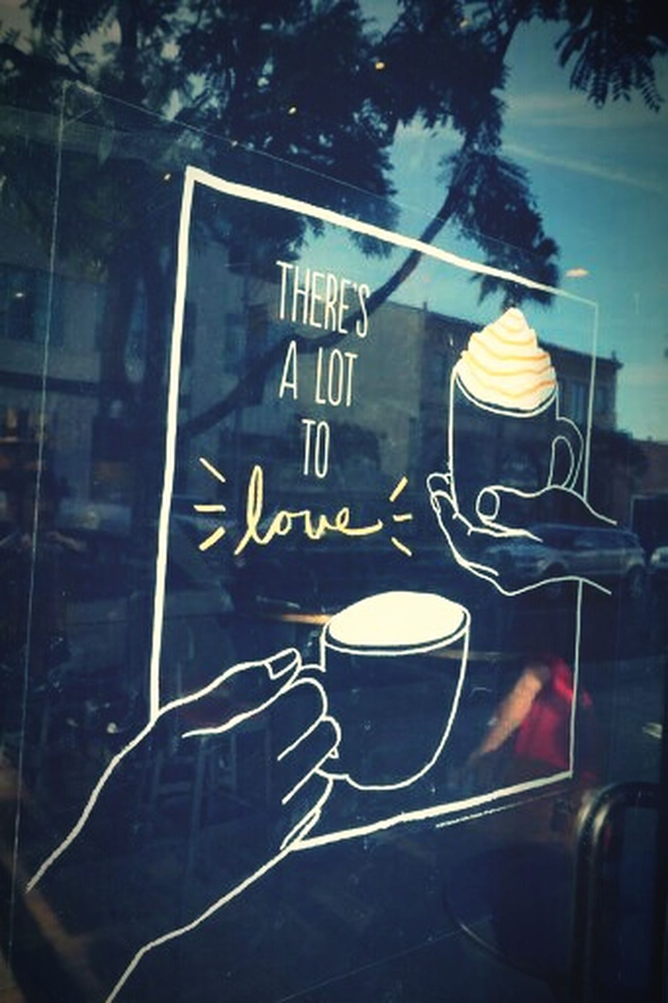 Losangeles Window Art Starbacks Coffee Valentine's Day