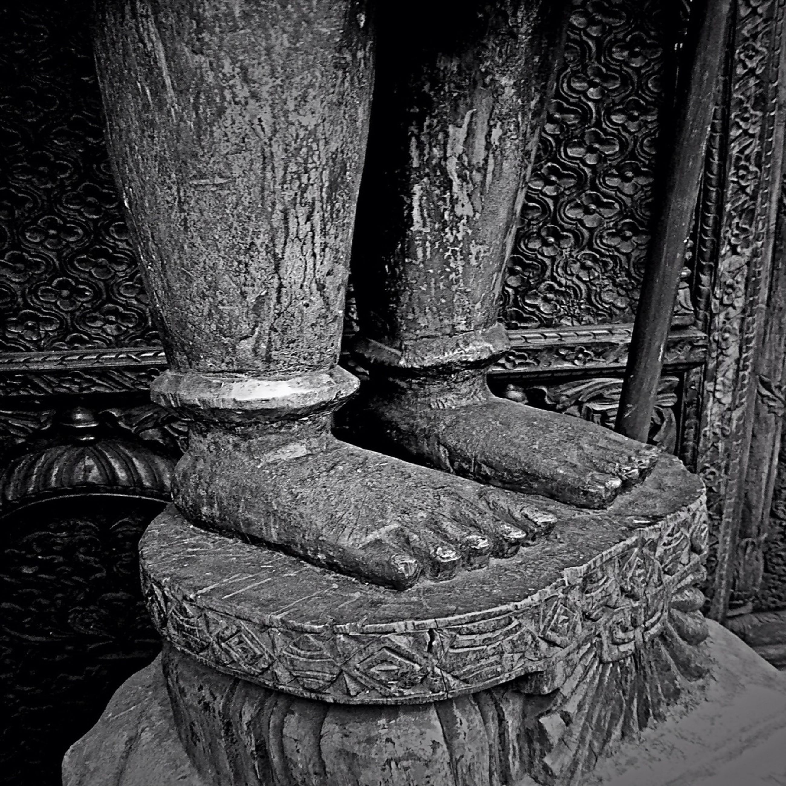old, indoors, wood - material, stone material, built structure, sunlight, day, no people, architectural column, close-up, history, religion, wooden, weathered, wood, column, metal, architecture, spirituality