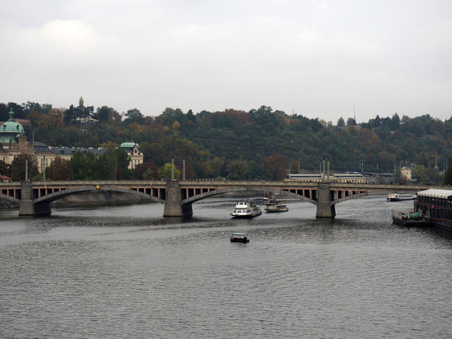 Bridge Bridge - Man Made Structure Canal Catamaran River Vltava Water