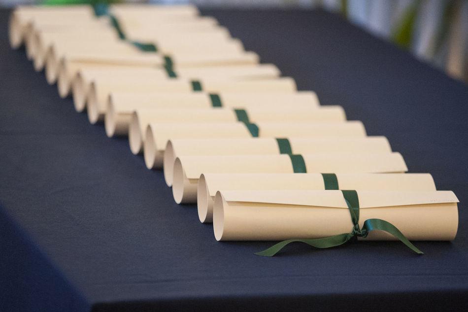 Beautiful stock photos of graduation, Diploma, Education, Focus On Foreground, Graduation