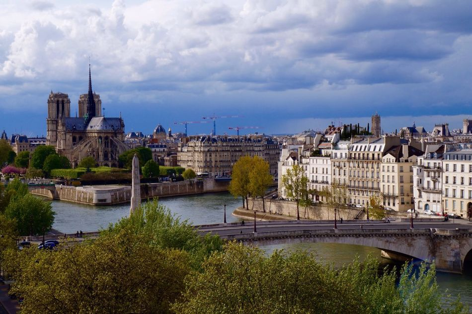 Architecture Built Structure Building Exterior Sky River Water City Bridge - Man Made Structure Transportation No People Outdoors Cloud - Sky Cityscape Paris Parisian Parisian Cliché ParisianLifestyle Parisjetaime Laseine Notre-Dame
