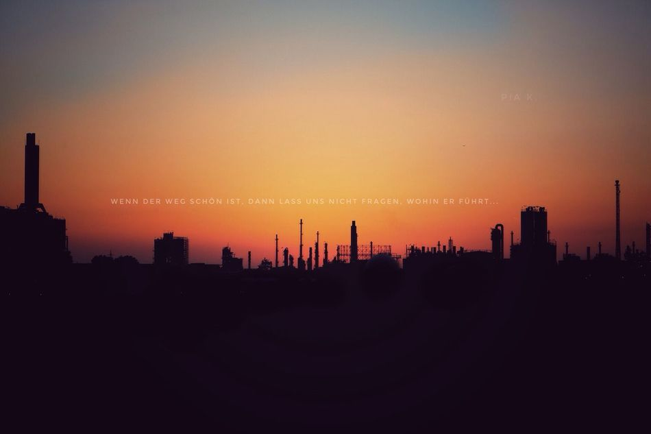 Silhouette Architecture Sunset Built Structure Building Exterior City Cityscape Urban Skyline Dusk Orange Color Copy Space Scenics Tall - High Skyline Skyscraper Sky Tall Tranquil Scene Outdoors Ludwigshafen Deutschland Sunshine Germany Mannheim Sundown