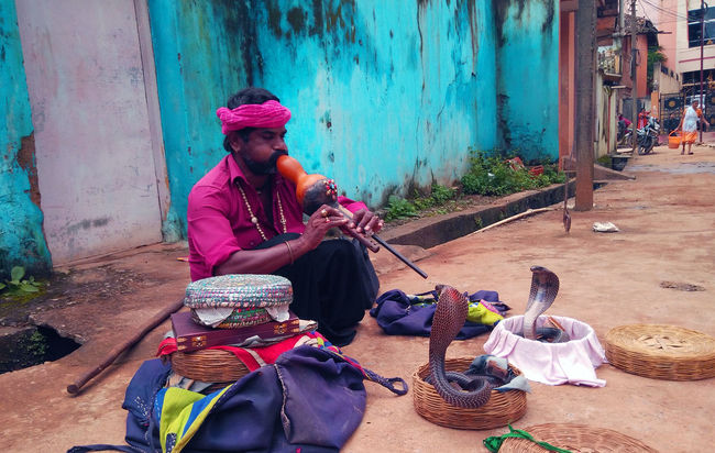 Basket Charmers India Travel Juggler Lute Red Shirt Snake Charmers Snake ♥ People And Places.