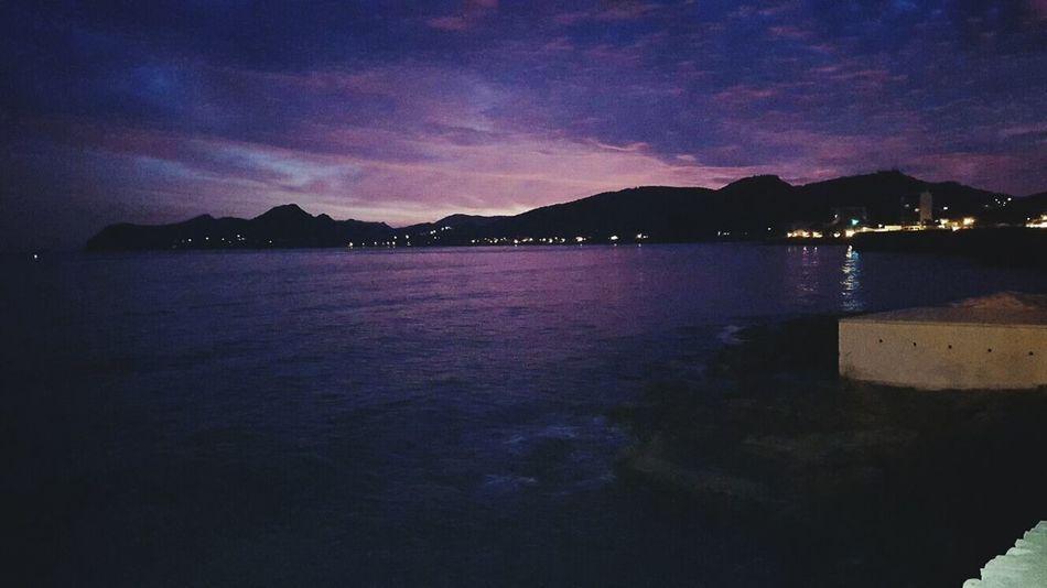 Beautiful Emotions Photography Pretty SPAIN First Eyeem Photo Mallorca Clouds And Sky Beach Beauty Breaking Dawn Water Sea Purplesky Pinksky