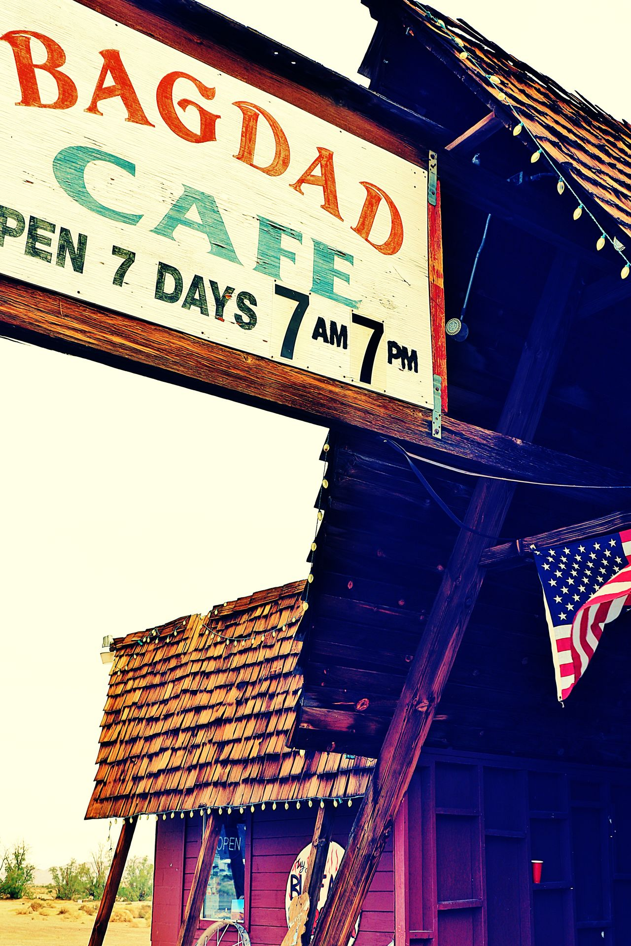Bagdad Cafe at Mojave Desert,CA American Bagdad Cafe California Famous Place Information Jermany Mov MojaveDesert Motel MOVIE Old Old Buildings Old House Photostock Stockphoto Symbol Traveling Trip USAtrip