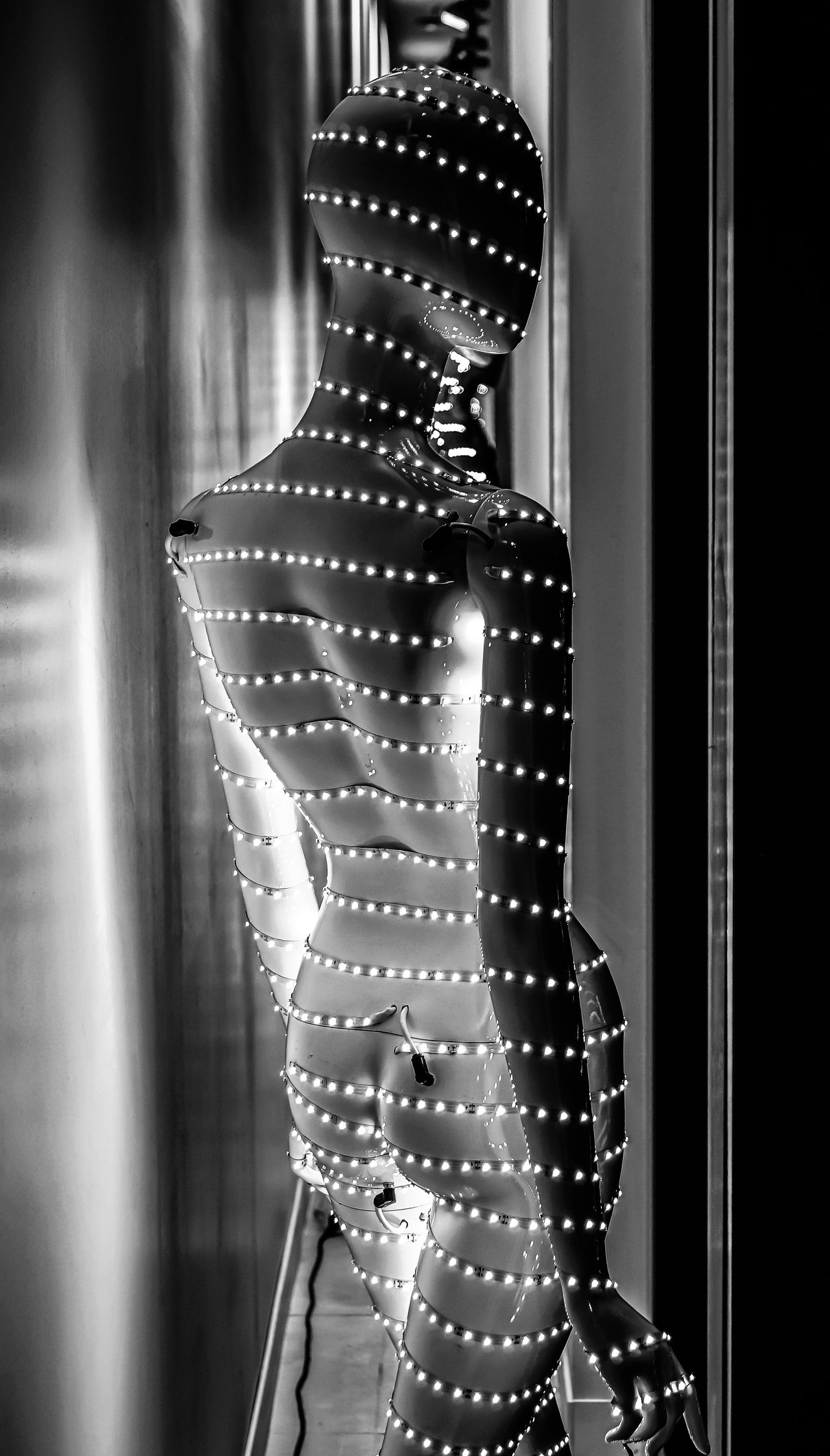 Gruss an Christian ;-) Art Black & White Black And White Dummy Electric Light EyeEm Best Shots EyeEm Gallery EyeEmBestPics Fashion Indoors  Lifestyles Night One Person Shopfront Standing Women