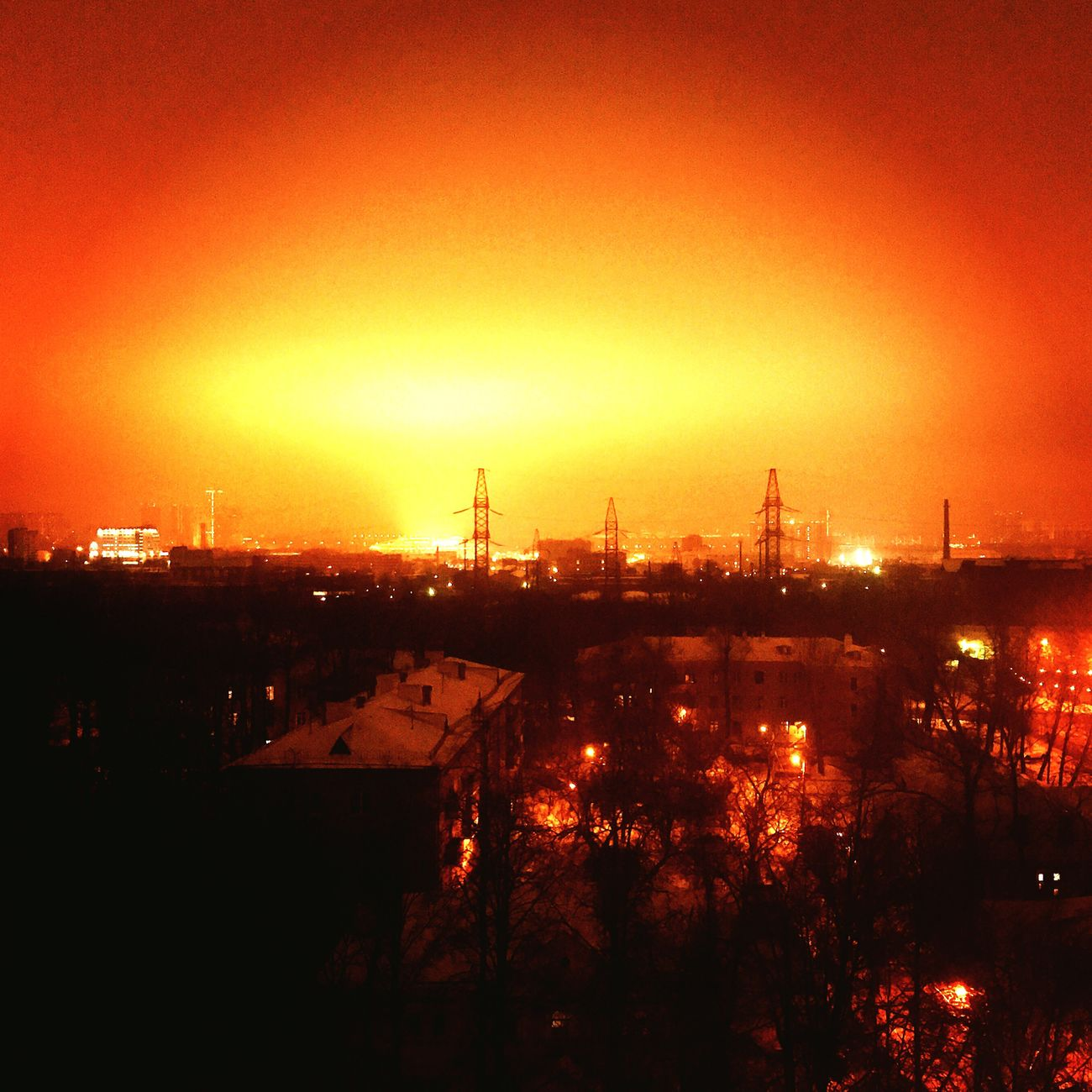 "Living ""near"" the Spartak stadium is something like this. City Illuminated"