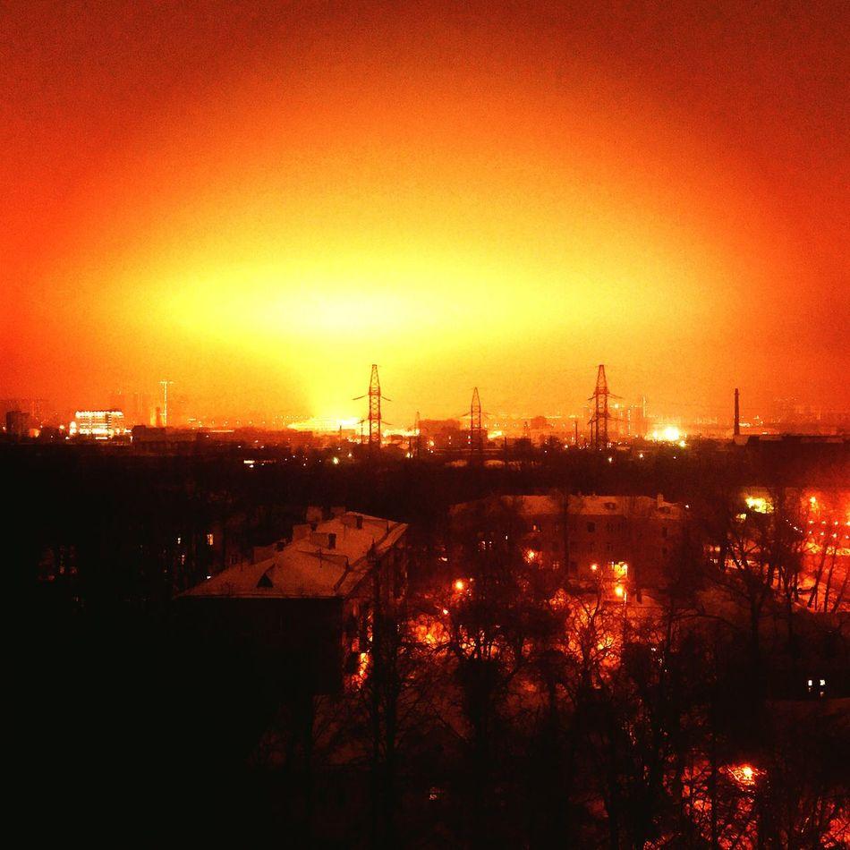 "Living ""near"" the Spartak stadium is something like this. City Illuminated"