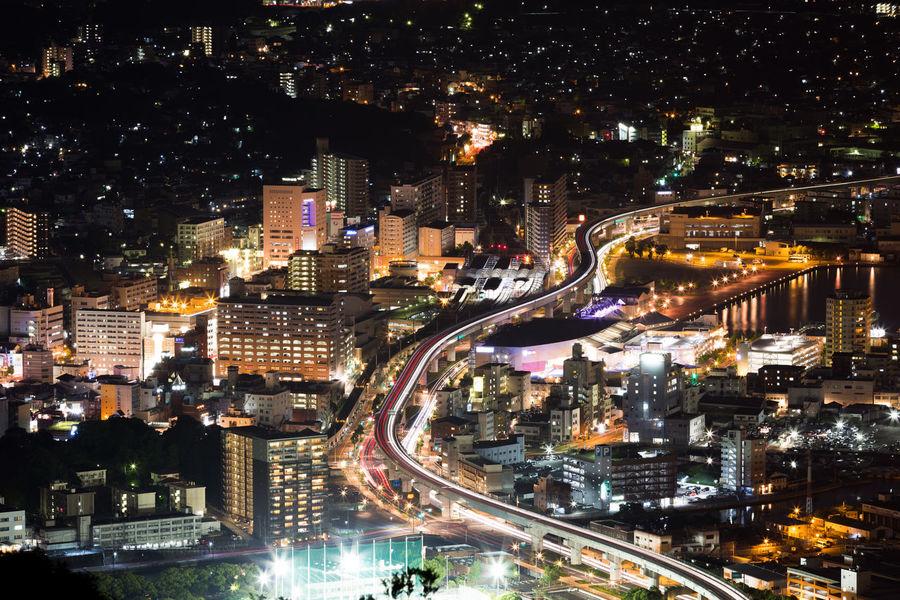City City Life City Street Cityscape Illuminated Motion Night Traffic Transportation Urban Road