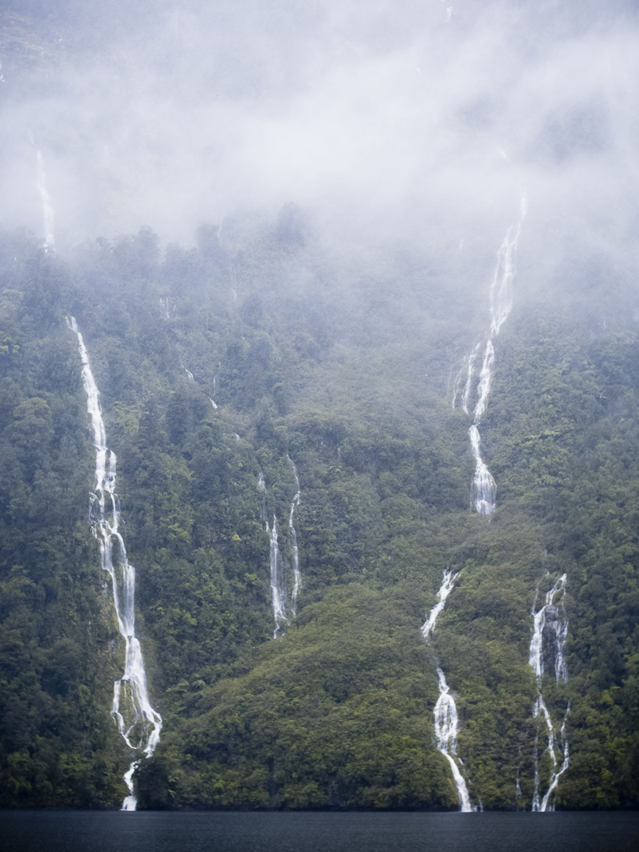 Fiordland New Zealand Waterfall