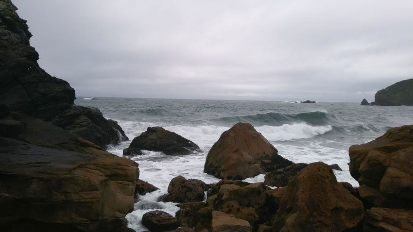 Oregon Beaches High Tide Sea Beach Coastline Outdoors Vacations Travel Destinations Nature Wave Water