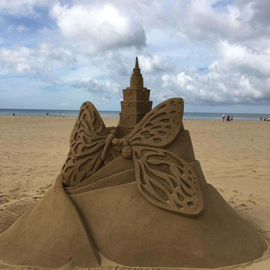 沙雕 Sand Clouds Sky Seashore