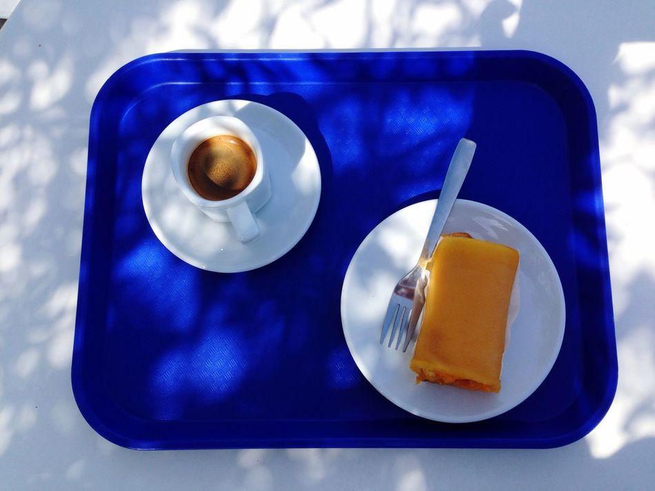 Things I Like Espresso Coffee Break View From Above Coffee Coffee Time Coffee ☕ Tart Tarte Azeitao Tarte de Azeitão ☕️🍰